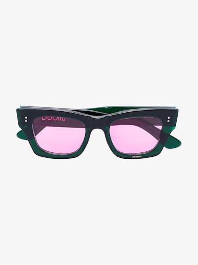 green square frame sunglasses