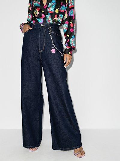 high waist flared jeans