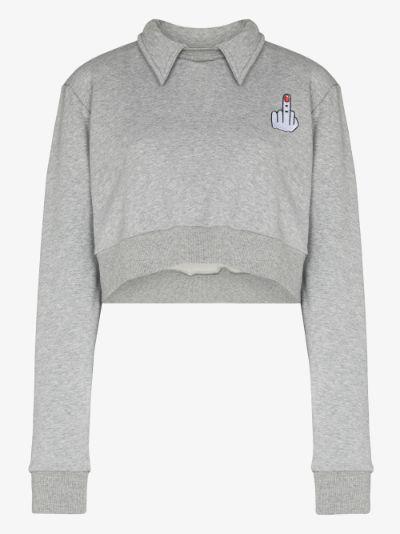 Wings Cropped Sweatshirt
