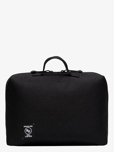 black logo patch washbag