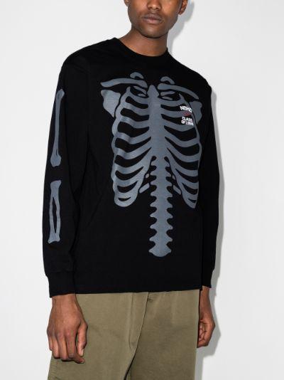 Bones print sweatshirt