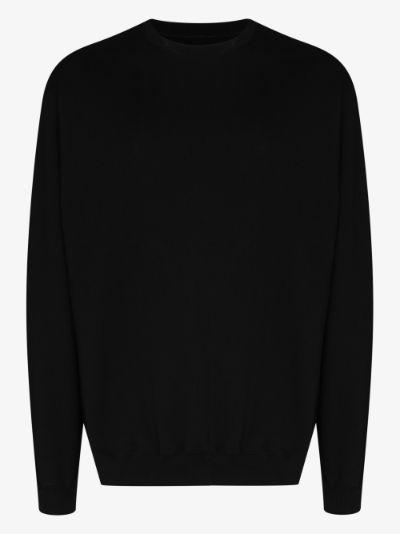 classic logo back sweatshirt