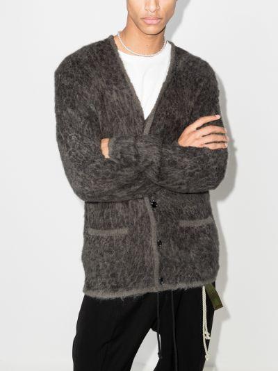leopard knit cardigan