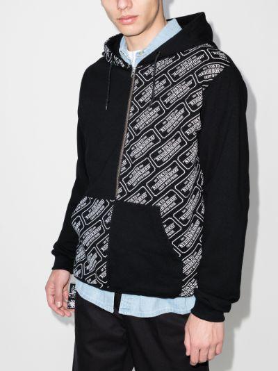 patchwork logo hoodie