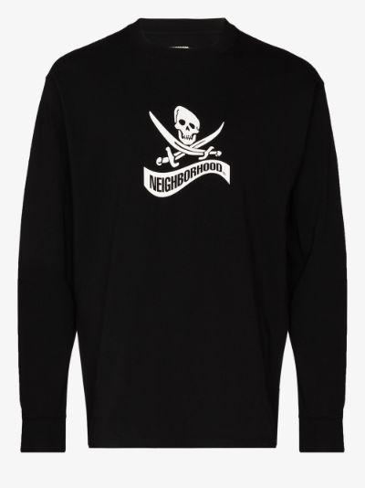 Pirate logo cotton T-shirt