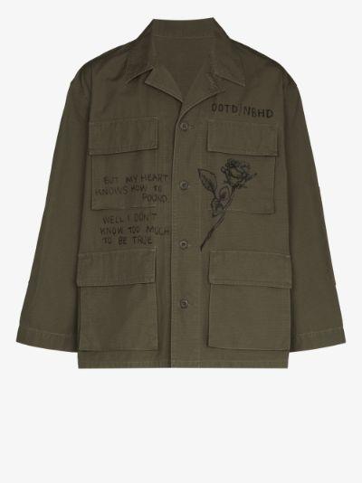printed military jacket