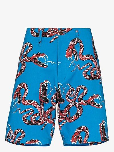 Rattlesnake print Bermuda shorts