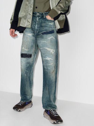 Scratch Savage straight leg jeans