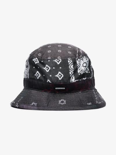 X Porter-Yoshida & Co. Black bandana print bucket hat