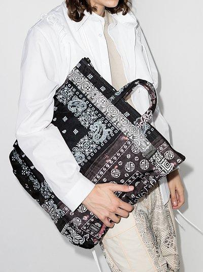 X Porter-Yoshida & Co. black bandana print tote bag