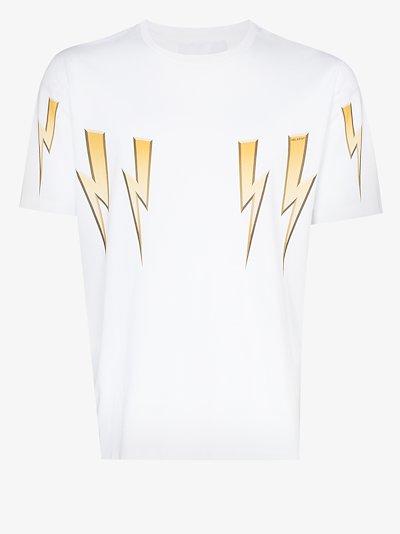 bolt print cotton T-shirt