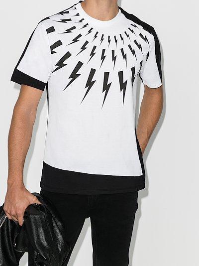 fair isle thunderbolt cotton T-shirt
