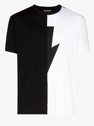 lightning bolt cotton T-shirt