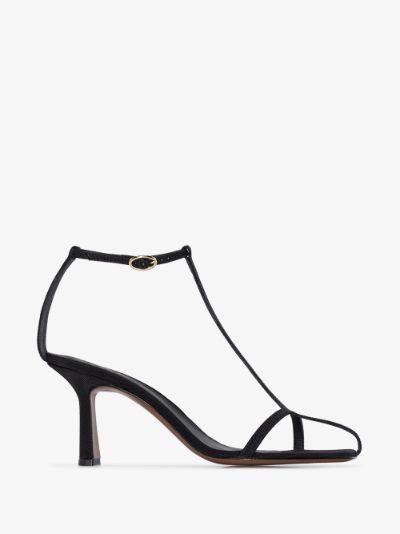 Black Jumel 80 leather sandals