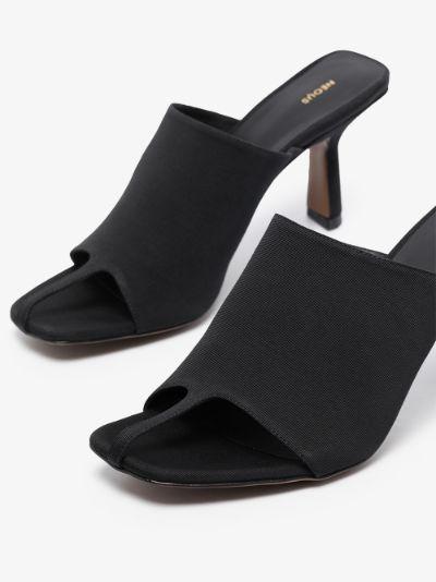 Black Jumel 80 square toe mules