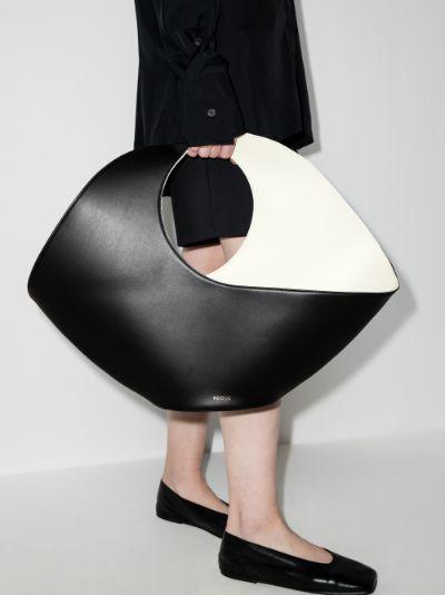 Black Jupiter large leather tote bag