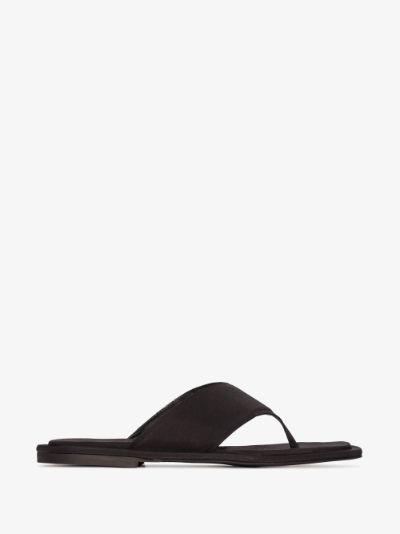 Black Lanke square toe sandals