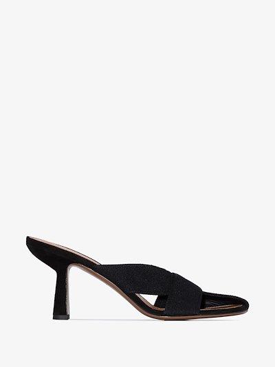 Black Ogma 80 bandage strap sandals