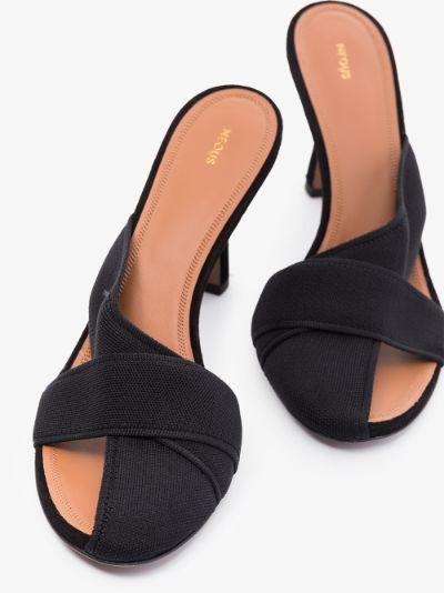 Black Ogma 80 strap sandals