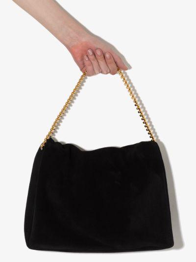 Black Orbit suede shoulder bag