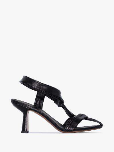 black Proxima 80 leather sandals