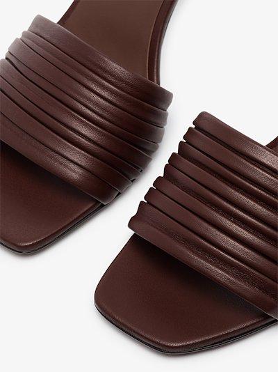 chocolate Sham 80 mule sandals