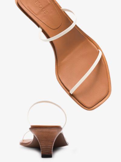 Cream Vulpe 55 leather sandals