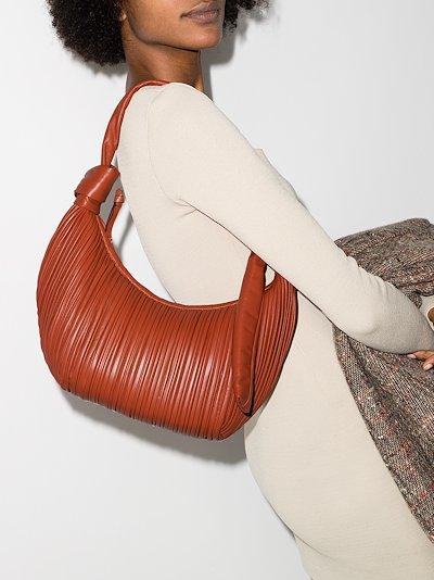 orange Neptune leather shoulder bag