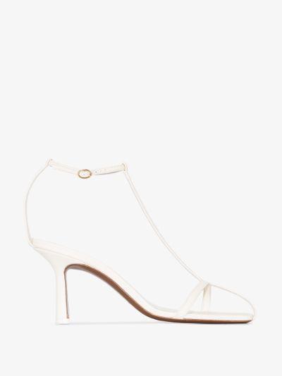 white Jumel 95 leather sandals