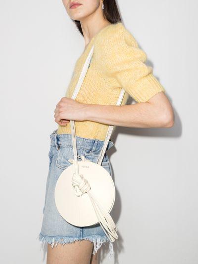 white Mercury tasselled leather mini bag