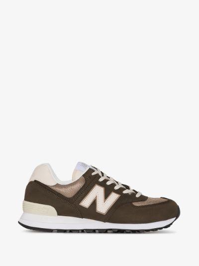 New Balance Brown 574 nubuck sneakers | Browns