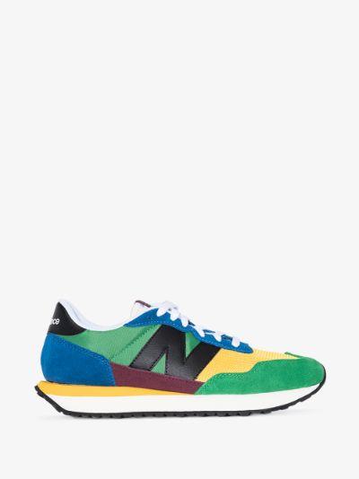 green Tier 1 237 low top sneakers