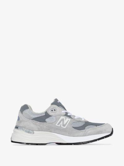 grey 992 suede mesh sneakers