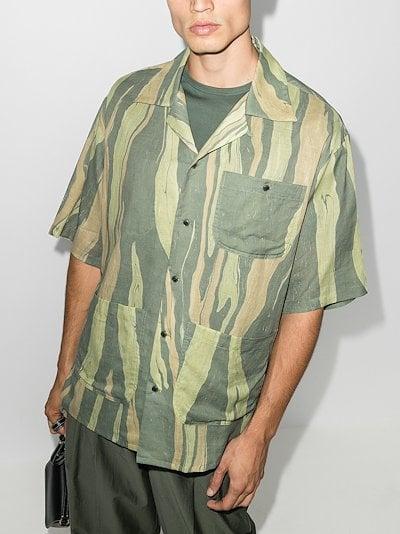 Aloha striped short sleeve shirt