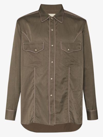 contrast trim western shirt