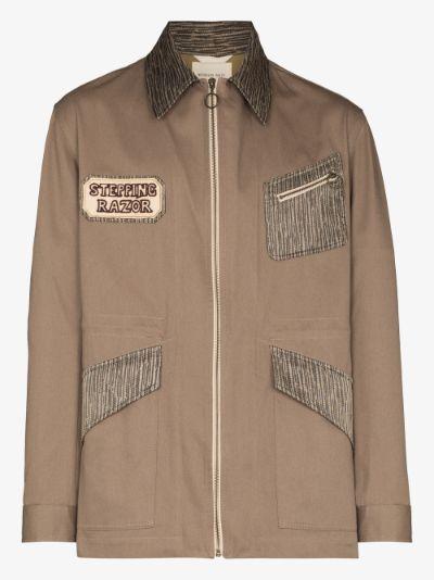 patch appliqué field jacket