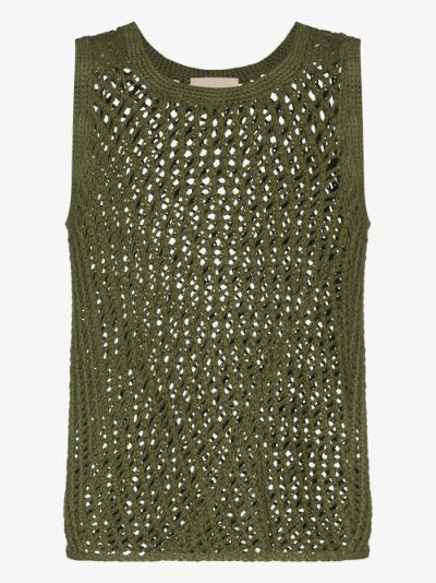 String Cotton Knit Vest