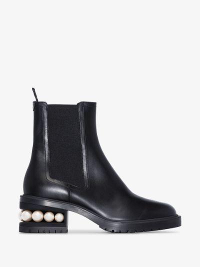 Black Casati 35 leather Chelsea boots
