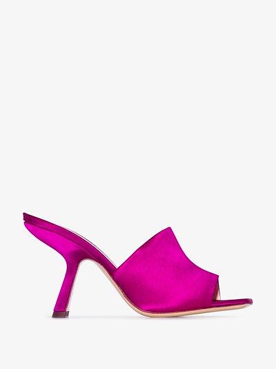 pink Alba 90 satin mules