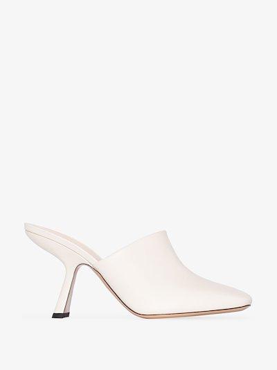white ALBA 90 leather mules