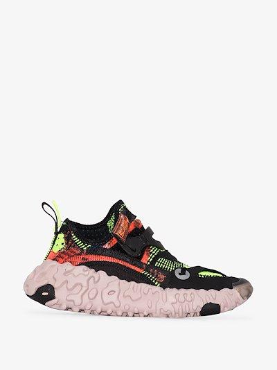 black OverReact flyknit ISPA sneakers