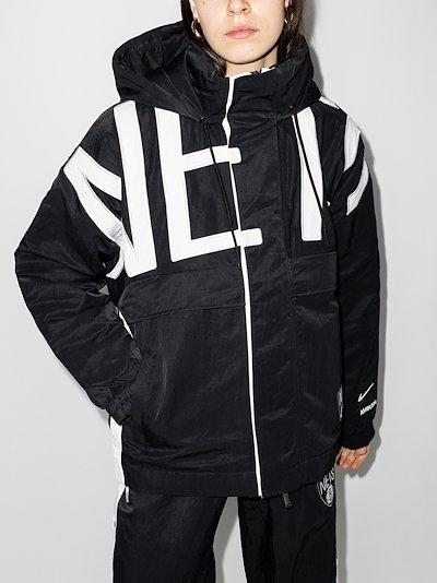 X AMBUSH Black Brooklyn Nets hooded jacket