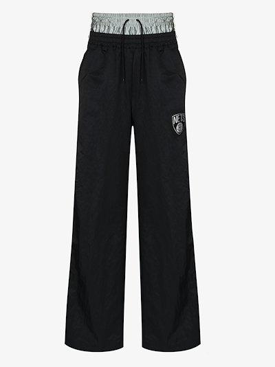 X AMBUSH Black Brooklyn Nets tear-away track pants