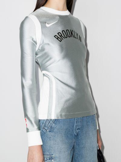 X AMBUSH Brooklyn Nets basketball top