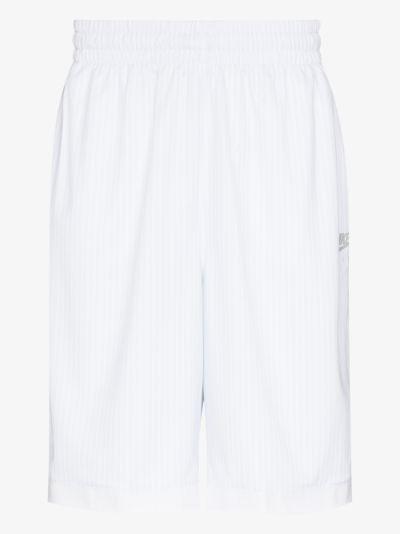 X Kim Jones white mesh track shorts