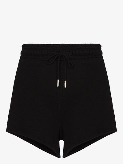 drawstring organic cotton running shorts