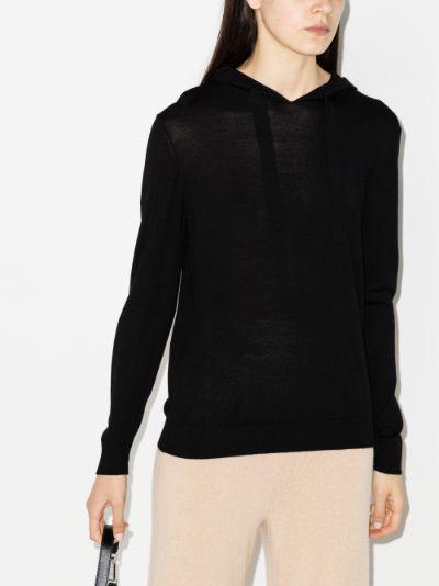 fine merino wool hoodie