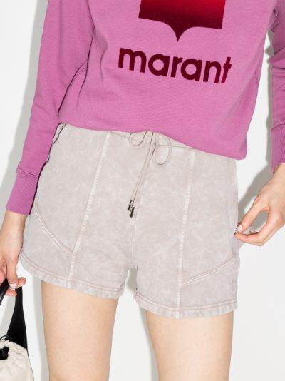organic cotton panelled shorts