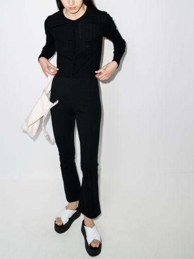 Pointelle Knit Organic Cotton Cardigan