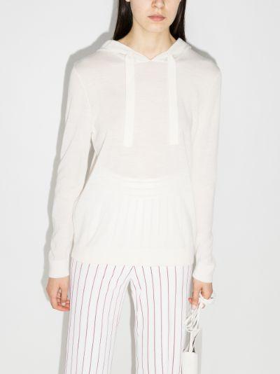 striped merino wool hoodie
